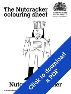 Nutcracker colouring sheet - The Nutcracker Soldier