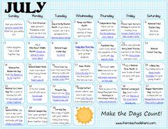 activ calendar, juli activ