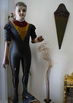 exceptionnel authentique mannequin de vitrine epoque napoleon iii mode couture. Black Bedroom Furniture Sets. Home Design Ideas