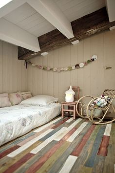 painted wooden floor