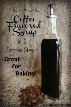 Coffee Flavored Syrup Extract
