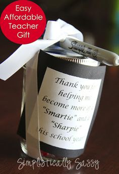 Easy Affordable Teacher Gifts