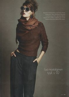 finland jan, fashion style, cloth, brown fashion, outfit, ell finland, autumn falls, fall styles, dress pants