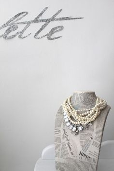 pearl, necklac