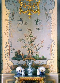 Chinoiserie wall.