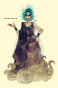 Fem!Hades by Maby-chan on deviantART gender bender, gender bent, captain hook, disney villains, femal hade