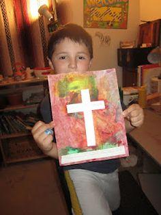 Painted cross craft