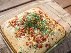 Honey Cornbread with Chives and Bacon