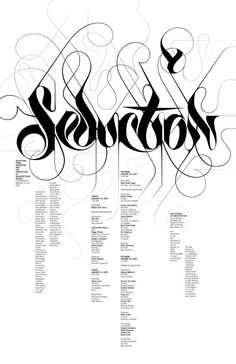 Michael Bierut with lettering by Marian Bantjes, Seduction symposium poster (2008)
