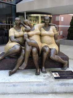 "The piece is in Harlem and it's entitled ""Friends"". The sculptor is Nnamdi Okonkwo.. I want a mini version of this for my coffee table"