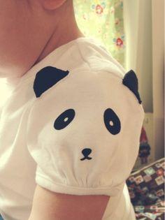 Flocked Heat Transfer Panda Sleeve by Jennifer of Parrishplatz