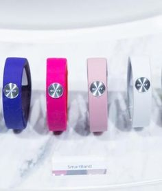 The SmartBand SWR10 can be paired with a phone via NFC or Bluetooth, and enables users to log places you've visited, music you've listened to, games you've played, etc.