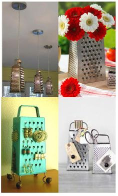 Turn an old cheese grater into something fun and festive