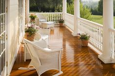 Love the flooring on this porch...