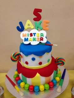 Mister Maker birthday cake