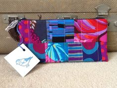 Patchwork Kaffe Fassett quilted pencil case