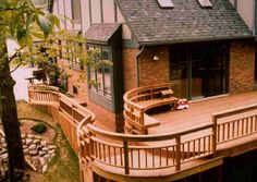 Deck Railing   Curved Deck Railing   Patio Deck Designs Idea