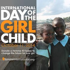 Happy International Girl Day! This day is meant to bring awareness to social inequality and the need for women empowerment!