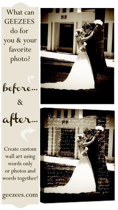 Canvas Wall Art   Photos with words together ...   Before and After by Geezees