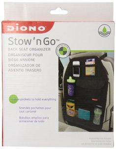"""Diono Stow """"N Go Car Organizer, Black"""