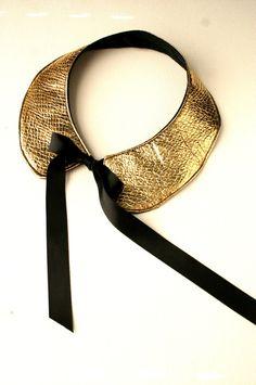 detachable leather collar
