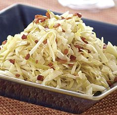 Warm Cabbage Slaw with Bacon Dressing Recipe