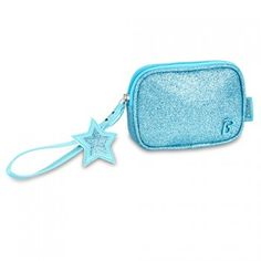 This cute little turquoise sparkly wristlet by Bixbee will make the perfect accessory for your little girl!  An easy to carry wink of glitz for her iPhone or tiny treasures, this simple little wristlet features a wrist strap closure and interior pocket.