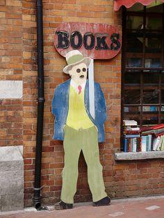 A James Joyce sign for a book shop in Cork.