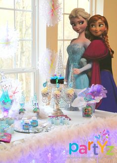 Amazing Frozen party!  See more party ideas at CatchMyParty.com!  #partyideas #frozen