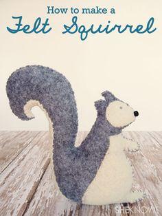 How to make a felt squirrel
