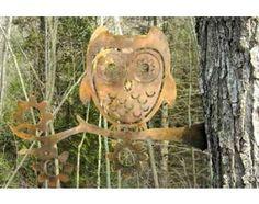 Metal Art Garden Owl