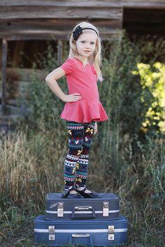 A is for Adorable - Girls Print Leggings #leggings pickyourplum.com