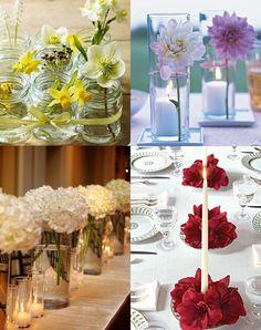 Centros de mesa on pinterest mesas crepe paper roses - Centros de mesa sencillos ...