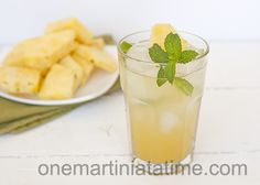Pineapple Coconut Mojito {with Coconut Rum} - One Martini at a Time