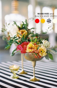 10 Color Inspiring Centerpieces - For Weddings & Parties