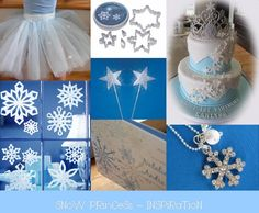 Snowflake party!  What a cute idea for a winter birthday...