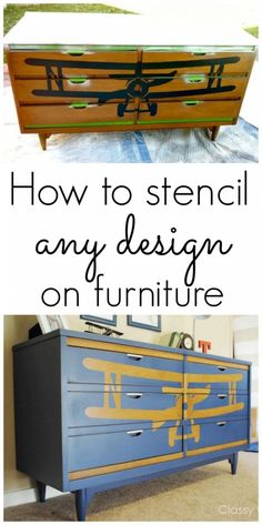 How to stencil any design on furniture with your Silhouette - www.classyclutter.net