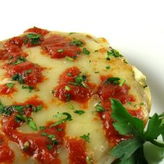 One Perfect Bite: Baked Portobello Parmesan - A Dieter's Delight - Foodie Friday