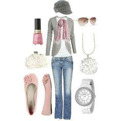 Shabby Chic Grey'n'Pink