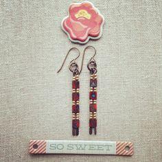 Red Picasso Sticks Earrings | Lorelei Eurto Jewelry
