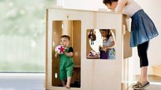 Plywood Puzzle Playhouse for Kids