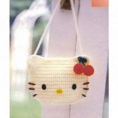 Hello kitty crochet bag....thinking of making  it for my Amanda!