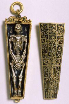 English Skeleton Pendant, 1540-1550...how freaking awesome!