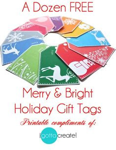 Free Holiday Printables for teacher gifts!