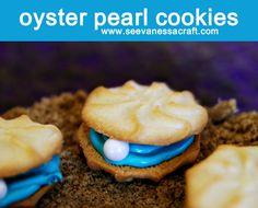 Little Mermaid Oyster Pearl Cookies