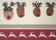 christma card, christmas cards, card idea, kid class, family christmas, kids, thumbprint christma, christmas projects, christmas wrapping