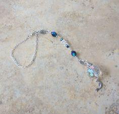 Celestial Crescent Moon Midnight Blue Crystal Bead Suncatcher / Car Charm. $6.99, via Etsy. glass beads: http://www.ecrafty.com/c-2-glass-beads.aspx