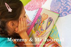 Make it a Special Mother's Day by starting a Mommy & Me Journal from waddleeahchaa.com