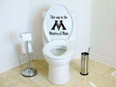 Harry Potter Ministry of Magic Toilet sticker.    Hahahaha