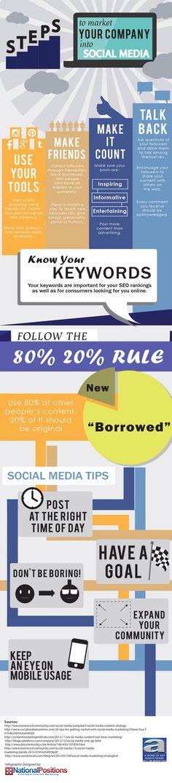 Steps to Market Your Company Into Social Media #socialmedia #digital #marketing
